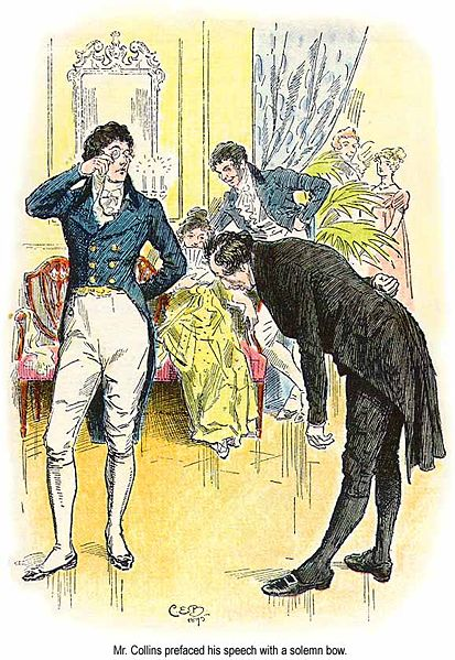 Pride and Prejudice, C.E. Brock illustration for the 1895 edition, ch 18, public domain iamge