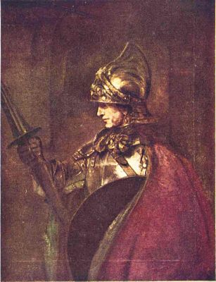 A Man in Armor by Rembrandt