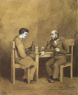 Crime and Punishment, Raskolnikov and Marmeladov from Crime and Punishment by Fyodor Dostoevsky