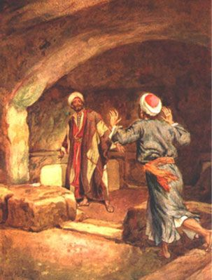 Disciples visit the tomb by William Hole, from The Life of Jesus of Nazareth. Eighty pictures.