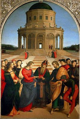Marriage of the Virgin Mary by Raphael
