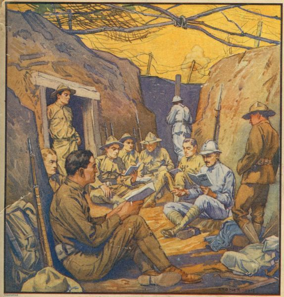 World War 1, Studying French in the trenches