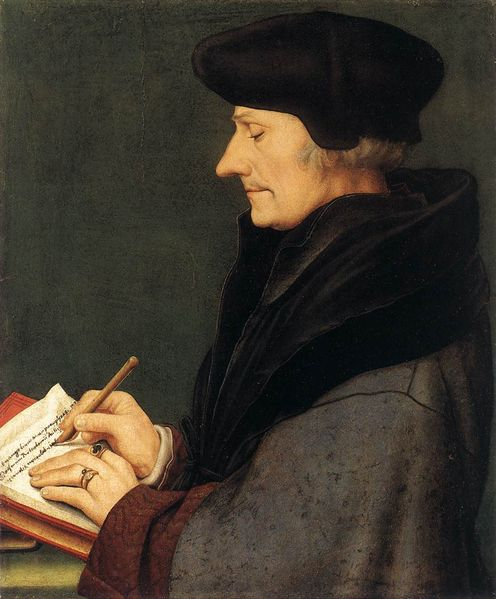 Erasmus by Hans  Holbein the younger, 1523
