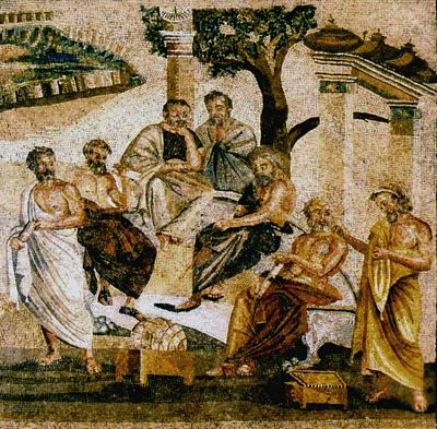 Plato, Ancient Academy Academy of Plato, mosaic from Pompeii