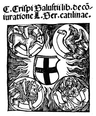 Title page of the first book printed in Konstanz, Sallust's De Conuratione Catilinae, 1505