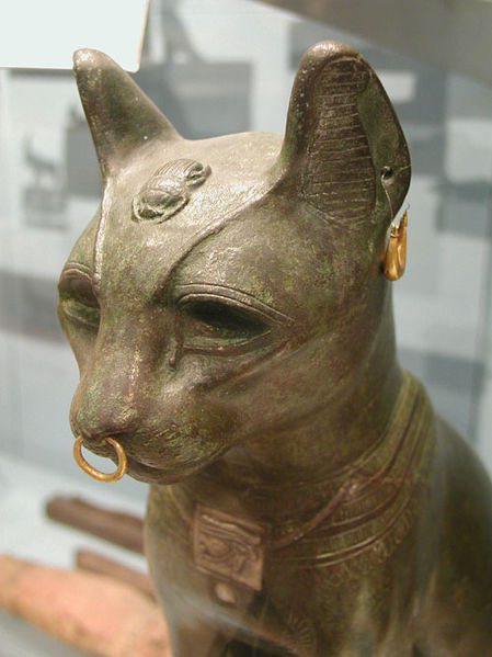 Cat Ancient Egyptian Bronze Cat, so called Gayer Anderson cat, late period bronze cat in the form of the goddess Bastet, image provided by author Jon Bodsworth with permission to reproduce for any purpose in any medium, copyright free image