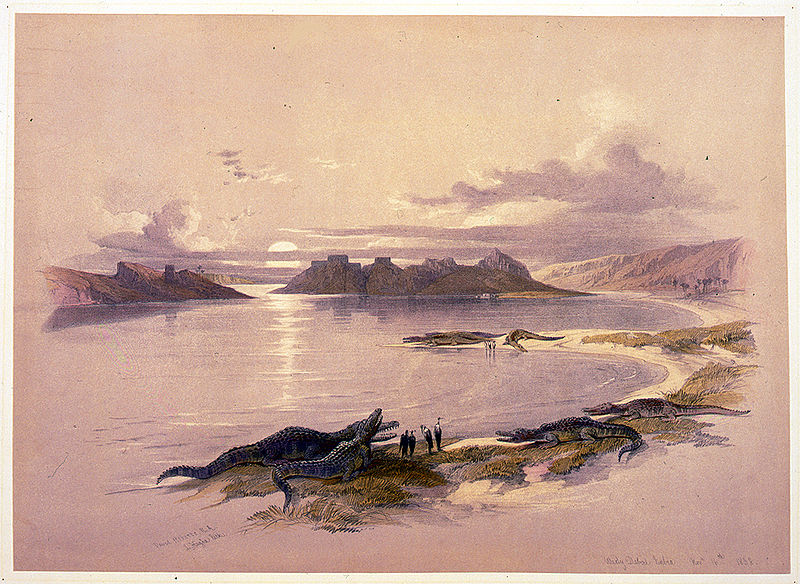 Egypt and Nubia by David Roberts, this reproduction of a painting is in the public domain because of its age, image available from US Library of Congress Prints and Photographs division