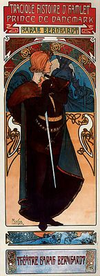 Hamlet by Alfons Mucha, public domain image from Wikimedia Commons