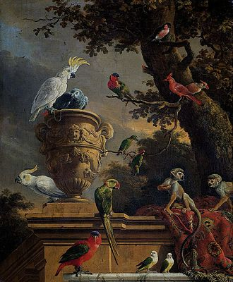 The Menagerie by Melchior d'Hondecoeter, public domain image