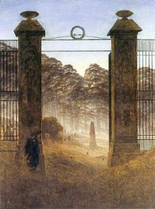 The Cemetery Entrance by Caspar David Friedrich, public domain image