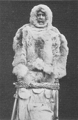 Robert Peary in his North Pole furs, from Matthew A. Henson: A Negro Explorer at the North Pole (New York, 1912), public domain image