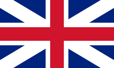 Pre 1801 Union flag of Great Britain, this was one of the flags used by the King's forces during the American Revolutionary War, image released by its author to public domain