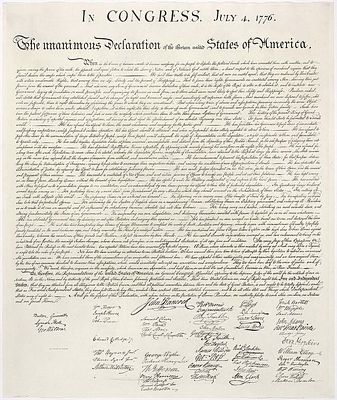 Declaration of Independence, public domain image