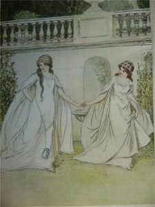 Rosalind and Celia by Hugh Thomson, public domain image