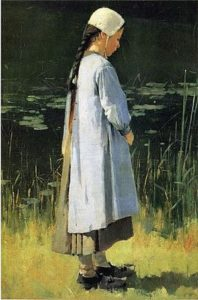 Angelus by Theodore Robinson, public domain image