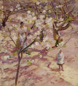 Blossoms at Giverny by Theodore Robinson, public domain image