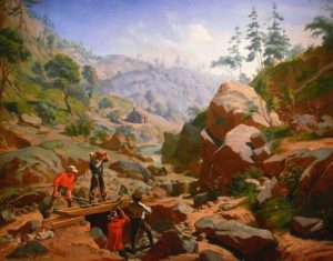 Miners in the Sierras by Charles Christian Nahl and Frederick August Wenderoth, photograph by Ad Meskens, public domain