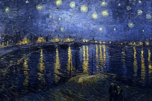 Starry Night over the Rhone by Vincent van Gogh, public domain image
