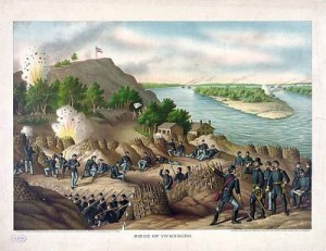Siege of Vicksburg by Kurz and Allison, art publishers, Chicago, public domain image