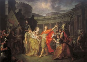 Hector and Andromache by A. Losenko, public domain image