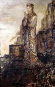 Helen on the ramparts of Troy by Gustave Moreau, public domain image