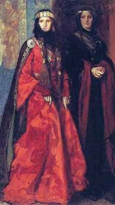Goneril and Regan from King Lear, illustration by Edwin Austin Abbey, public domain image