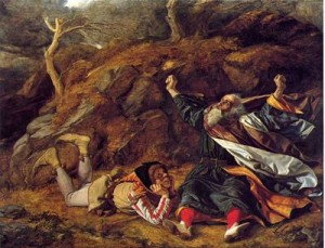 King Lear and the Fool in the Storm by William Dyce, public domain image