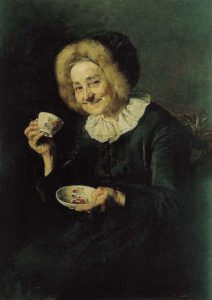 Coffee Drinker by Ivana Kobilca, public domain image