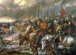 The Morning of the Battle of Agincourt by John Gilbert, public domain image