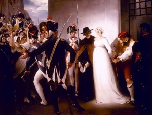 Marie Antoinette Being Taken to her Execution, painting by William Hamilton, public domain image
