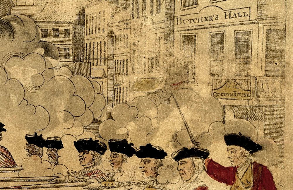 Boston Massacre by Revere, detail