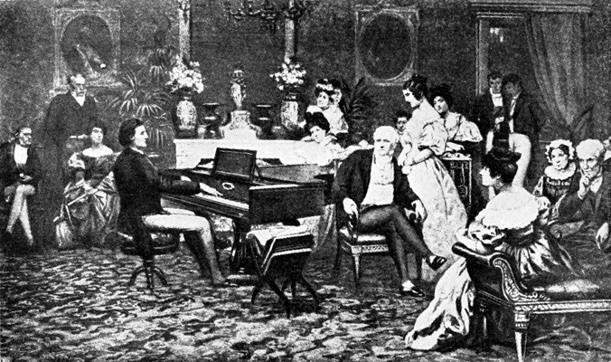 Chopin playing for the prince