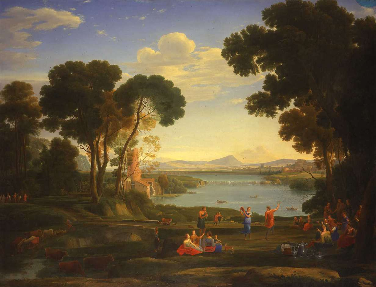 MAS Hendrik_Frans_van_Lint_-_Landscape_with_a_Watermill_and_Dancing_Figures_(The_Wedding_of_Isaac_and_Rebecca)