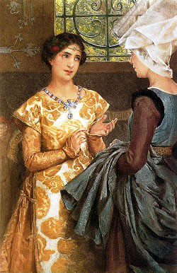 Queen Katherine of France by Laura T. Alma-Tadema